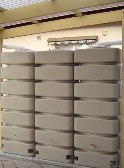 maxicube modular slimline poly rainwater tanks south australia adelaide sa
