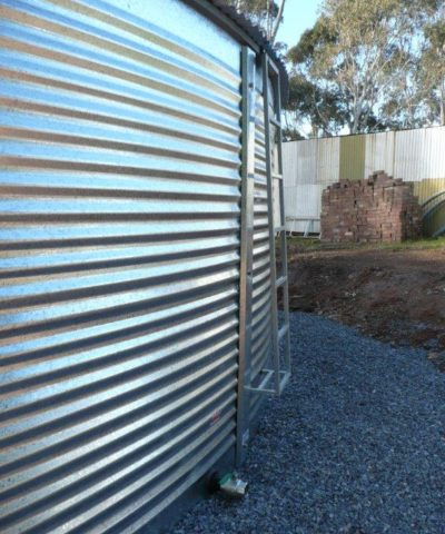 ladder access aqualine steel bushmans rainwater tanks australia buy built on site water tank